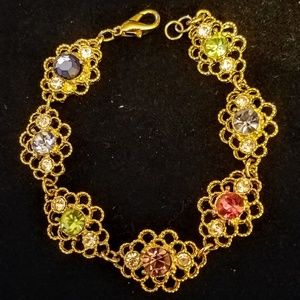 Jewelry - Vintage multicolored rhinestone bracelet